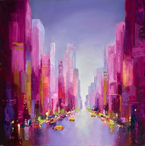 City Streets by Anna Gammans - Original Painting on Stretched Canvas